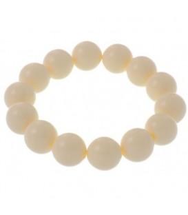 Armband van beige (1,4 cm) kunststof kralen