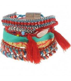 Multistrengs gekleurde armband ibiza style