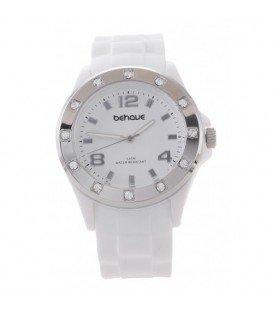Witte armband horloge met strass steentjes