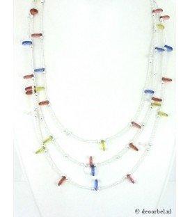 Witte kleine kralen halsketting