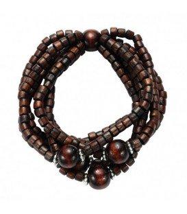 Donker bruine kralen armband