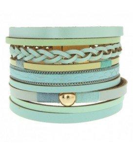 Mooie groene armbanden van leer