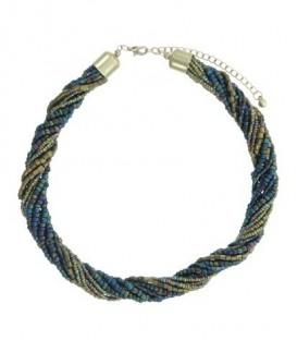 Gekleurde halsketting van glas kralen