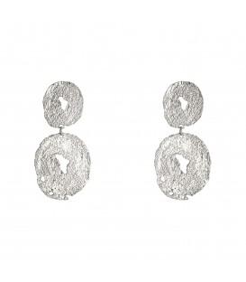 Prachtige zilverkleurige oorbellen