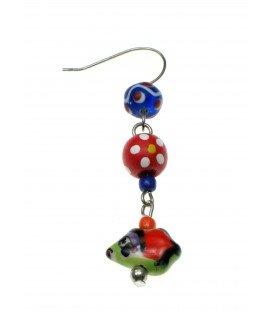 Mooie vrolijke gekleurde oorbellen