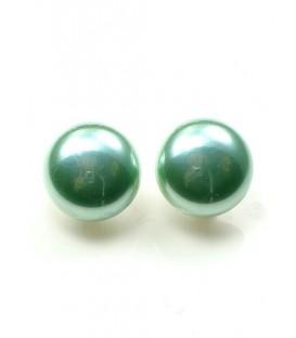 Ronde groene iriserende oorclips