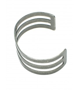 Matgrijze zilverkleurige metalen armband