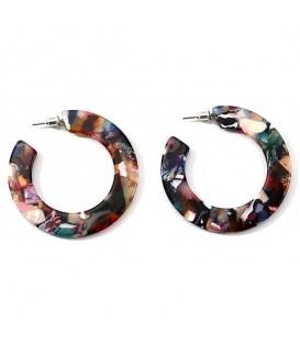 Trendy gekleurde oorbellen