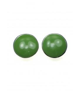Oorclips met groene inleg