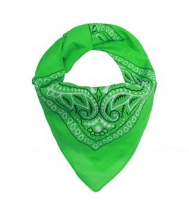 Groene bandana sjaal met opdruk