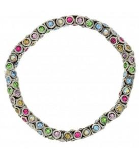 Elastische armband met gekleurde steentjes