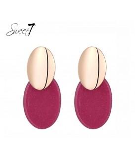 Roze met goudkleurige oorbellen van Sweet7