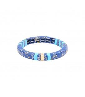Blauwe armband met marmerprint