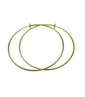 Goudkleurige oorring (creool) oorclips van 70 mm