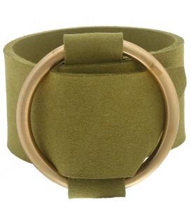 groene brede armband met gesp