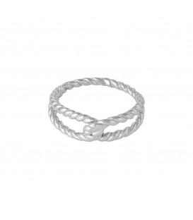zilverkleurige ring ( ringmaat 18)