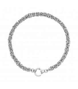 zilverkleurige halsketting