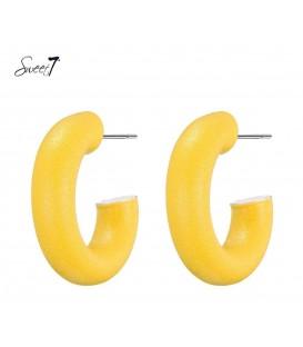 gele ronde oorbellen