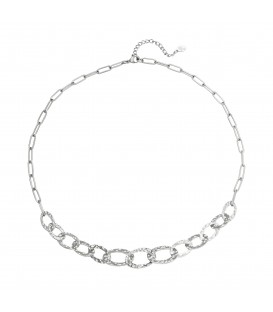 zilverkleurig halsketting met mooie schakels