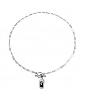 zilverkleurige halsketting met een mooie hanger