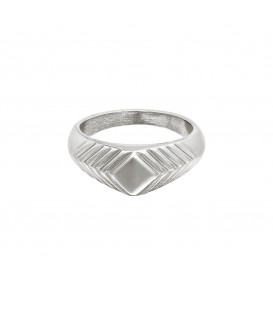zilverkleurige brede ring met details (16)
