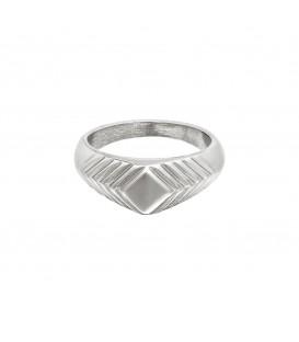 zilverkleurige brede ring met details (18)