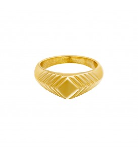 goudkleurige brede ring met details (16)
