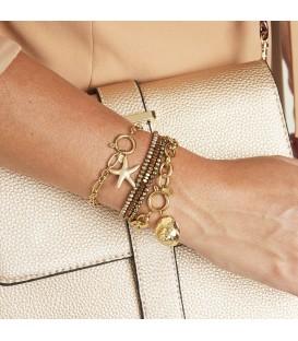 goudkleurige schakelarmband met zeester