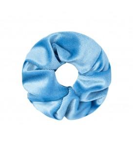 lichtblauwe scrunchie van fluweel