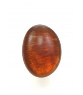 ovale oranje oorclips met parelmoer inleg van culture mix