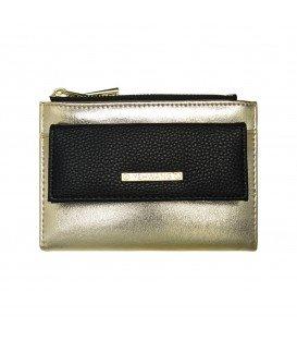 zwart en goudgekleurde simpele portemonnee