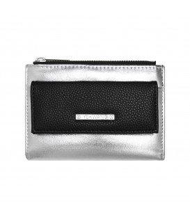 zwart en zilvergekleurde simpele portemonnee