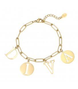 Goudkleurige armband met het woord 'DIVA'