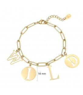 Goudkleurige armband met het woord 'WILD'