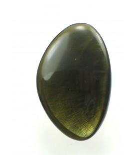 mooie ring met donkergroene afwerking op parelmoer