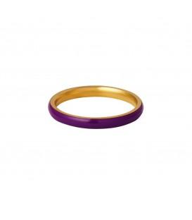 goudkleurige minimalistische ring met een paarse coating (18)