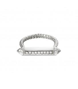 zilverkleurige ring met een staaf met zirkoonsteentjes (16)