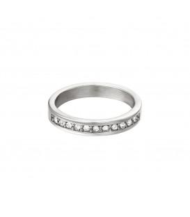 zilverkleurige ring met kleine witte ronde zirkoonsteentjes (16)